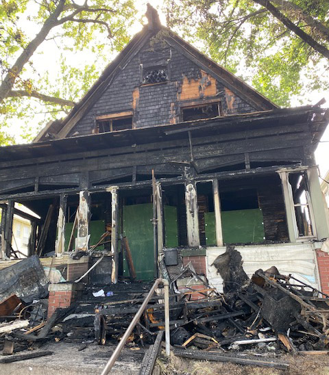 Home that was burnt down